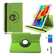 "360 Rotating Leather Case Stand For Samsung Galaxy Tab 4 8.0"" T330 Tablet +Screen Protector+Stylus"