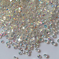 300PCS 3D Glitter AB Rhinestones Nail Art Decorations