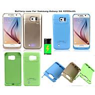 4200mAh externe draagbare back-up batterij Case voor Samsung Galaxy s6 (verschillende kleuren)