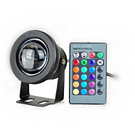 10W LED Underwater Light 1000LM Waterproof Flood Lamp With Convex Glass Lenses (12-18V) (Black)