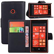 Για Θήκη Nokia Πορτοφόλι / Θήκη καρτών / με βάση στήριξης tok Πλήρης κάλυψη tok Μονόχρωμη Σκληρή Συνθετικό δέρμα Nokia Nokia Lumia 520