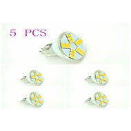 5 pcs GU5.3 4 W 15 X SMD 5630 600-750 LM 2800-3200 K Warm White MR11 Spot Lights DC 12/AC 12 V