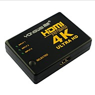 yong wei® 4-Port-3-in 1-aus 4k x 2k Ultra HD HDMI v1.4 3D-Umschalter