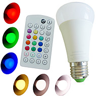 1pcs SchöneColors® E26/E27 10W Color Temperature Adjustable,Music-Controlled, Remote-Controlled RGBW LED Globe Bulbs