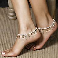 Damskie Biżuteria Łańcuszek na kostkę Łańcuch nadwozia / Belly Chain Unikalny Modny biżuteria kostiumowa Perłowy Biżuteria Biżuteria Na