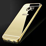 metal çerçeve kaplı lüks samsung galaxy s6edge için şeffaf pc kapak telefonu kabuk ekler