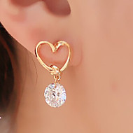 HUALUO®Love Korean Jewelry Zircon Earrings