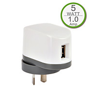ce enda USB-väggladdare, au / Nya Zeeland plugg, 5V 1A utgång för iPhone 5 / 5s / 5c iphone 6 / plus iphone 3 / 3G / 3GS