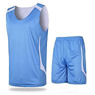 남성의 - 높은 호흡 능력(>15.001g)/빠른 드라이/wicking - 민 소매 - 레저 스포츠/농구 - 수트/운동복