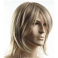 natuurlijke Pruiken synthetisch Machinegemaakt Zonder kap Pruiken Kort Blond Haar
