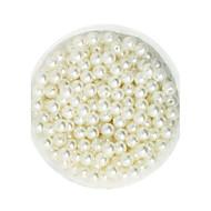 100g beadia (aprox 1000pcs) abs perlas 6mm perlas sueltas de color marfil de plástico redondas para la fabricación de joyas de bricolaje