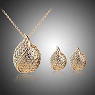 Sieraden set Kristal Strass Verzilverd Roos verguld Legering Hartvorm Zilver Gouden Ketting / Oorbellen Feest Dagelijks 1 SetGiften van