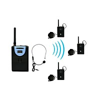 Sistema sem fio guia / tradução digital de 2,4 g (1 transmissor e 3 receptores)