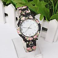 Women Deluxe Silicone Strap Flower Style Jelly Sports Analog Quartz Wrist Watch