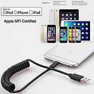 yellowknife® mela MFI fulmini 8pin cavo di sincronizzazione e la primavera del caricatore del USB per iPhone6 ​​/ 5s / ipad (150cm)
