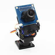 2 축 FPV 카메라 받침대 헤드 + 로봇 / R / C 자동차에 대한 ov7670 카메라 세트 - 블루 블랙 +