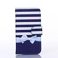 Na Samsung Galaxy Etui Etui Pokrowce Etui na karty Portfel Z podpórką Flip Futerał Kılıf Linie / fale Skóra PU na Samsung S6 edge S6 S5 S4
