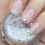 Abstrakt - Finger/Tå - Glitter - 3X3X1.5 - 1