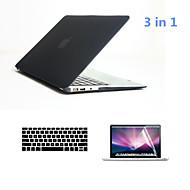 """3 en 1 cuerpo casos duros completos con cubierta del teclado y protector de pantalla hd para el MacBook Air de 13,3 """"(colores surtidos)"""