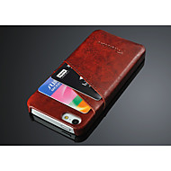 For iPhone 6 Case Card Holder Case Back Cover Case Solid Color Hard PU Leather iPhone 6s/6
