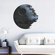 Star Wars 3d estrela morte decalques de parede PVC autocolante