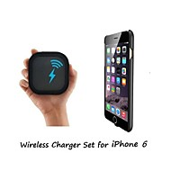 [iPhone 6 Wireless Charger Set] Qi Wireless Charger and 2mm Super Thin Wireless Receiver Case for iPhone 6