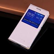 Mert Samsung Galaxy tok Betekintő ablakkal / Automatikus készenlét/ébresztés / Flip Case Teljes védelem Case Egyszínű Műbőr SamsungCore