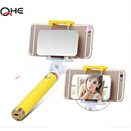 Colorful Selfie Stick Monopod with Bluetooth Button.Selfie Blutooth Monopod with Big Rearview Mirror for Iphone6,Samsung