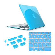 """3 en 1 cristal claro caso de la cubierta del teclado y el enchufe del polvo de silicona para MacBook Pro 13,3 """"(colores surtidos)"""