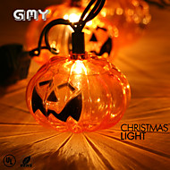 GMY Christmas Light Transparent Pumpkin String Light