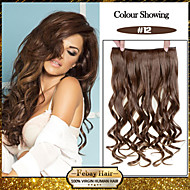 5 클립 숙녀 더 많은 색상을 사용할 수를위한 머리 연장에 꿀 갈색 (# 12) 합성 머리 클립을 물결