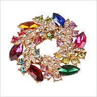 귀여운 / 파티 - 브로치 (금 도금 / 합금 / 모조 다이아몬드 / 원석 & 크리스탈)