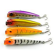 """4 szt Popper Návnady Popper Biały Żółty Purpurowy Złoto Różne kolory g/Uncja,95mm mm/3.8"""" cal,Twardy plastikSea Fishing Wędkarstwo"""