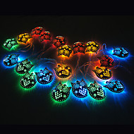 20-LED 2M  Cat Pendant RGB Lights Christmas Holiday Wedding Decoration