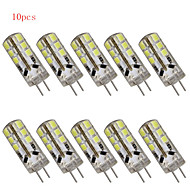 10 pcs g4 3w 24 cms 2835 280 lm blanc chaud / blanc froid t décoratif led bi-broches dc 12 / ac 12 v