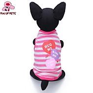 猫用品 / 犬用品 Tシャツ パープル / ピンク 犬用ウェア 夏 ハート / 縞柄 結婚式 / コスプレ