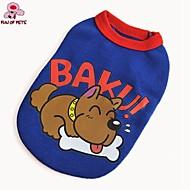 犬用品 Tシャツ レッド ブルー 犬用ウェア 夏 春/秋 漫画 キュート カジュアル/普段着