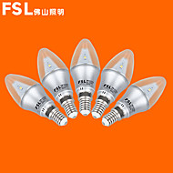 5 pcs FSL E14 3 W 9 SMD 3528 220 LM Warm White/Cool White C Candle Bulbs AC 220-240 V