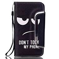 Voor Samsung Galaxy Note Kaarthouder / Portemonnee / met standaard / Flip hoesje Volledige behuizing hoesje Zwart & Wit PU-leer Samsung