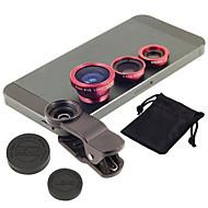 nouvelle universelle 3 en1 clip sur fisheye large macro téléphone portable kit de lentille de la caméra d'angle pour iphone samsung