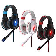 고음질 게임 라인 마이크에 헤드폰을 유선&귀여운 이어폰 PS3 게이밍 헤드셋을 취소 음량 제어 귀 소음