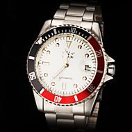 lusso classico del design auto orologio cinturino in acciaio meccanico degli uomini
