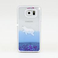 Varten Samsung Galaxy kotelo Virtaava neste Etui Takakuori Etui Kiiltävä PC Samsung S6 / S5 / S4