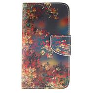 Para Samsung Galaxy Capinhas Porta-Cartão / Carteira / Com Suporte / Flip Capinha Corpo Inteiro Capinha Flor Couro PU Samsung S5 Mini