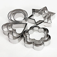 12Pcs Stainless Steel Cake Cookie Egg Fondant Mould Mold Sugarcraft Cutter Xmas