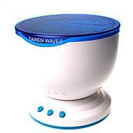 hry® llevó la noche la luz de la lámpara azul olas del mar de proyección del proyector del océano con el mini altavoz