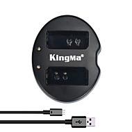 kingma® dubbla kortplatser USB batteriladdare för Canon lp-e10 batteri för Canon Rebel t3 T5 EOS 1100D 1200D kyss x50 kamera