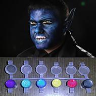arc festékek mágikus gyöngy fény ragyogott színek pigment halloween testfestés arca deco (8 szín egy sor olyan eszközöket)