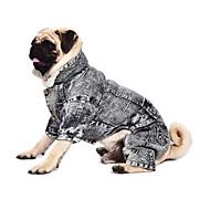 개 점프 수트 데님 자켓 그레이 강아지 의류 겨울 모든계절/가을 청바지 패션 카우보이