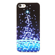 Christmas Style Stary Night Sky Pattern Transparent PC Back Cover for iPhone 5/5S